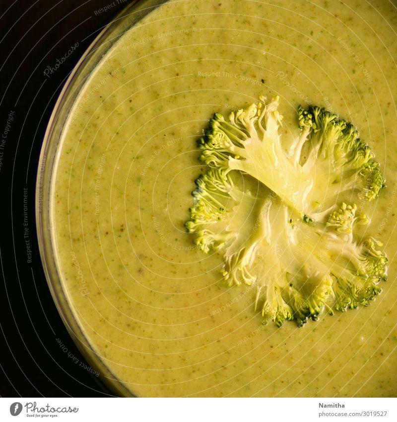 Brokkoli-Suppe Lebensmittel Gemüse Eintopf Ernährung Essen Mittagessen Vegetarische Ernährung Diät Schalen & Schüsseln lecker Geborgenheit Appetit & Hunger
