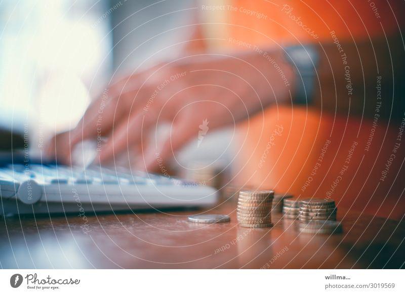 kosten-vor-anschlag Geld Cent Euro Geldmünzen Taschenrechner Tastatur rechnen Handel verkaufen Kapitalwirtschaft sparen Haushaltsführung
