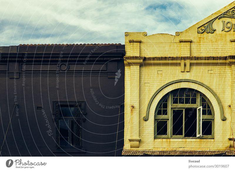 Himmel blau Stadt Farbe schön weiß Haus Wolken Fenster schwarz Straße Architektur Lifestyle gelb Stil Business