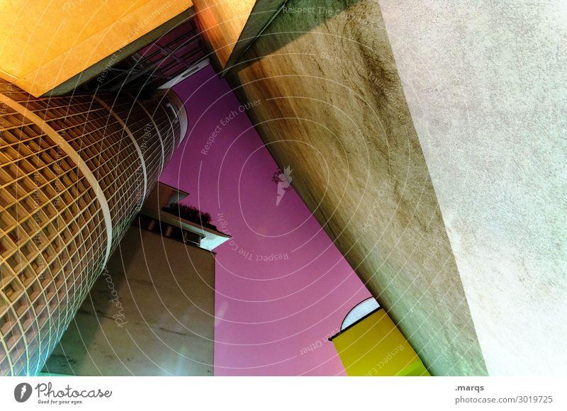 Futur Wolkenloser Himmel Haus Hochhaus Bankgebäude Industrieanlage Bauwerk Gebäude Architektur Mauer Wand Fassade außergewöhnlich blond hoch modern Erotik