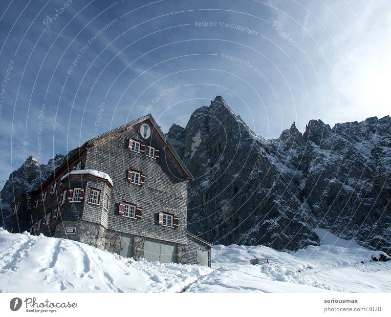 Karwendel Himmel Schnee Berge u. Gebirge Europa Alpen Hütte Österreich Kalkalpen