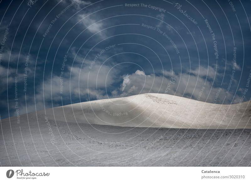 Eine Gletscherdüne Ferien & Urlaub & Reisen Schnee Berge u. Gebirge wandern Umwelt Natur Landschaft Urelemente Himmel Wolken Sommer Winter Schönes Wetter Eis