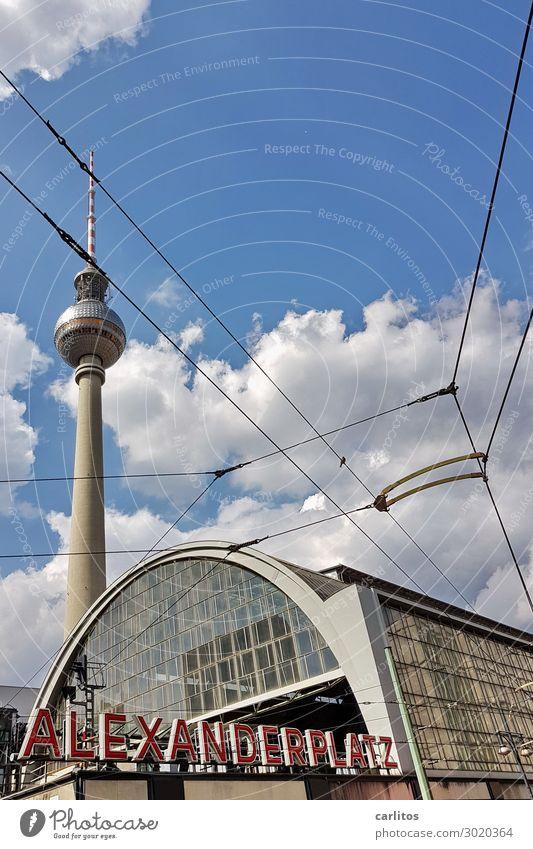 ALEX zwei Berlin Alexanderplatz Berliner Fernsehturm Bahnhof Bahnfahren Eisenbahn DDR