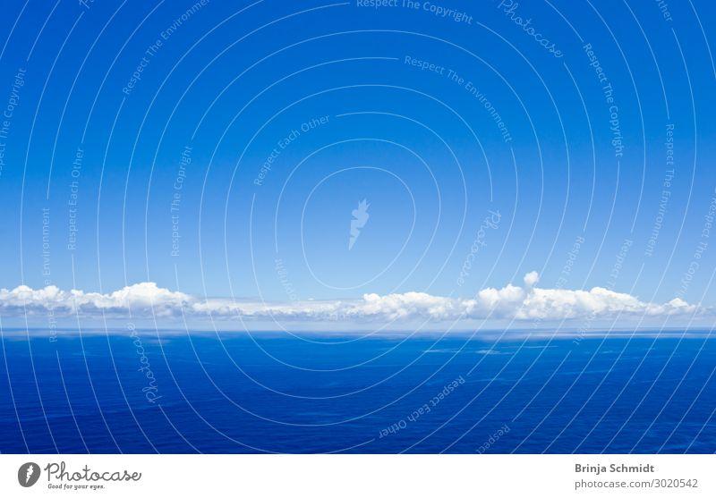 Wolkenband über der Weite des stillen Atlantik harmonisch ruhig Meditation Ferien & Urlaub & Reisen Ferne Freiheit Sommer Meer Wellen Luft Wasser Himmel
