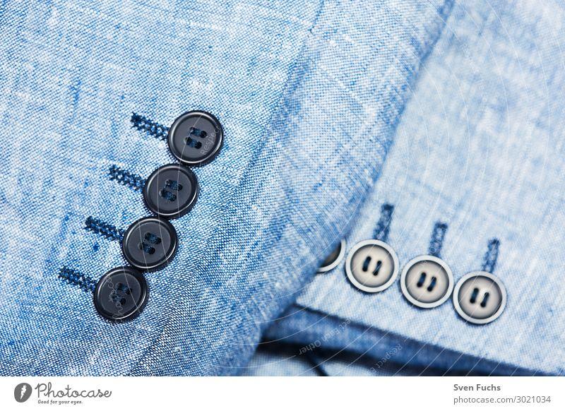 Jacketärmel mit vier schwarzen Knöpfen Lifestyle Stil Mann Erwachsene Mode Bekleidung Kleid Anzug Stoff blau weiß jacket knöpfe geschmackvoll Geschäftsmann