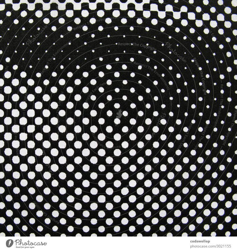 konzentrationsverlauf Druckerzeugnisse Druckerei Raster schwarz weiß Design Rasterpunkt Halbton Halbtonbild Schwarzweißfoto abstrakt Muster Strukturen & Formen