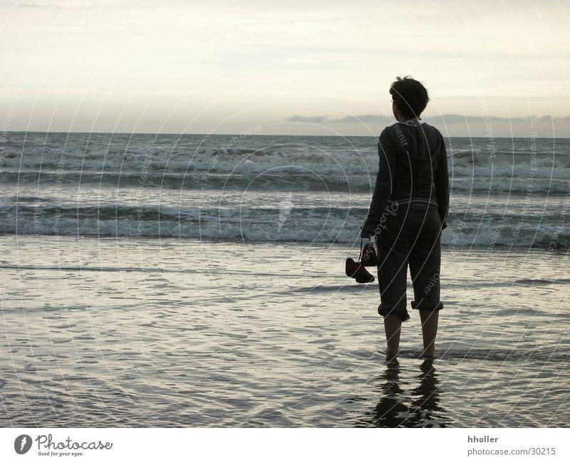 Sehnsucht nach dem Meer Frau Wellen