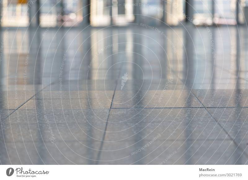 Leerer Flur Stein Horizont Aula Granit Fliesen u. Kacheln Marmor Fuge Reflexion & Spiegelung Glänzender Lackporling Gang leer Menschenleer Innenaufnahme