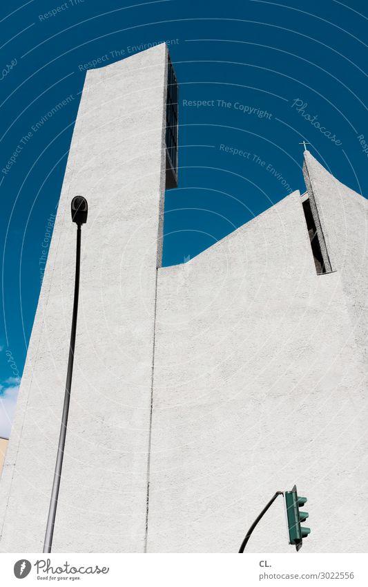st. norbert Architektur Himmel Wolkenloser Himmel Schönes Wetter Berlin Hauptstadt Kirche Bauwerk Gebäude Mauer Wand Sehenswürdigkeit Verkehr Ampel