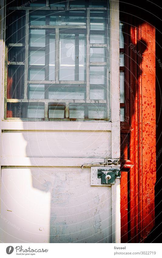 weiße Tür, asiatischer Stil - China Ferien & Urlaub & Reisen Tourismus Ausflug Haus Dekoration & Verzierung Kunst Architektur Kleinstadt Stadt Gebäude Straße