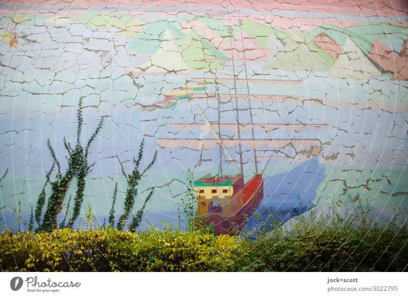 Wasserwand Einsamkeit Ferne Wand Umwelt Stil Kunst Mauer Freiheit Wasserfahrzeug Stimmung Dekoration & Verzierung ästhetisch Kreativität Abenteuer Perspektive