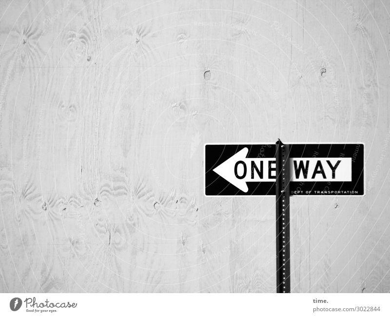 Umleitung | on the road again Stadt Wand Mauer Design Linie Verkehr Schriftzeichen Kommunizieren Ordnung Schilder & Markierungen Hinweisschild einfach Zeichen