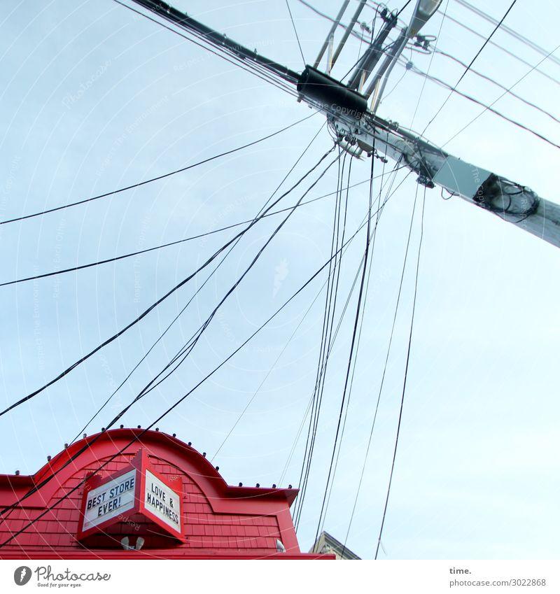 Nachschub Arbeitsplatz Handel Dienstleistungsgewerbe Energiewirtschaft Telekommunikation Business sprechen Kabel Kabelsalat Hochspannungsleitung Himmel