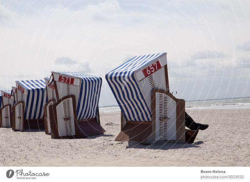 Let us meet at beach chair number 569 ... Wellness Leben Erholung ruhig Schwimmen & Baden Ferien & Urlaub & Reisen Sommerurlaub Meer Natur Landschaft Sand