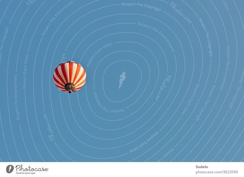 Heißluftballon im US-Design Lifestyle Freude Abenteuer Freiheit Flugsportarten Ballone Luftverkehr Schönes Wetter USA fahren fliegen authentisch elegant