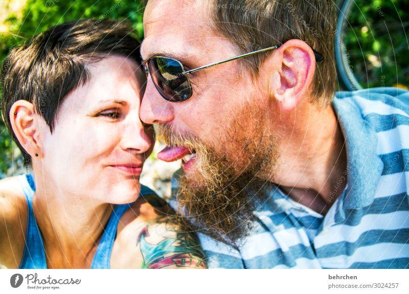 weil das leben spaß macht... Frau Erwachsene Mann Paar Partner Leben Körper Haut Kopf Haare & Frisuren Gesicht Auge Ohr Nase Mund Lippen Bart 2 Mensch