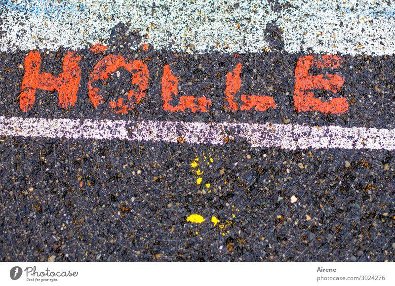 menschenleer Kinderspiel Schulhof Buchstaben Spielen Schule Kindheit Freizeit & Hobby Kindererziehung Freude Schriftzeichen Straße Hölle Fußgängerzone