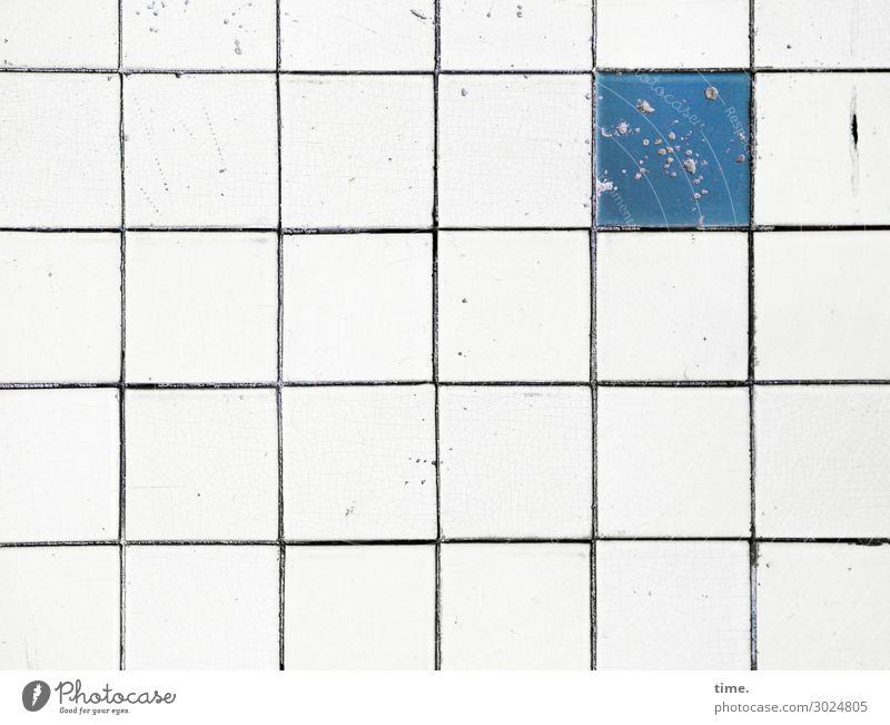 Regel & Ausnahme alt Inspiration hart Oberfläche zeichen symbol rutschfest stein kachel anders divers vielfalt abweichung dissident fuge wand kaputt beschädigt