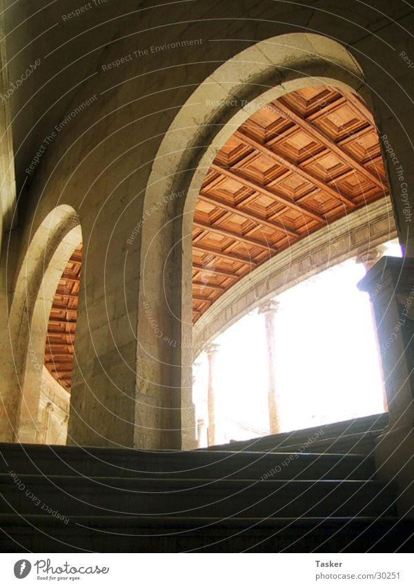 Bogenschütze Fenster historisch Spanien Torbogen Granada Alhambra