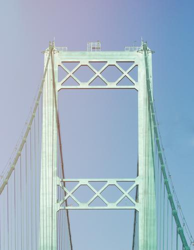 Brückentage Amerika USA Stars and Stripes Himmel Himmel (Jenseits) überbrücken Brückenpfeiler