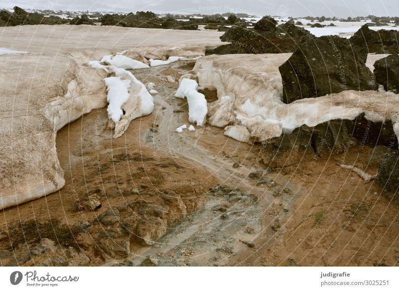 Island Ferien & Urlaub & Reisen Natur Landschaft Berge u. Gebirge Umwelt kalt natürlich Schnee Felsen wild Eis Erde Abenteuer Klima Urelemente Frost