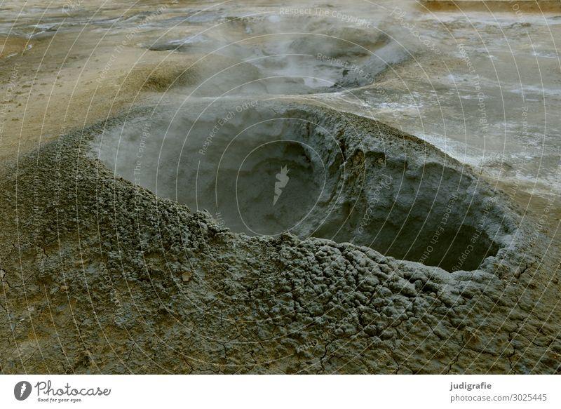 Island Solfatarenfeld Schwefel Erde vulkanisch Vulkaninsel dampf Reisefotografie Landschaft Natur Außenaufnahme Menschenleer Farbfoto Urelemente