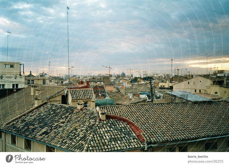 view over valencia Dach Abenddämmerung Altstadt Valencia