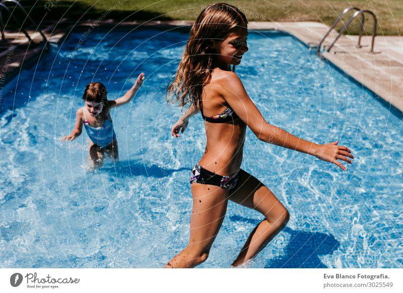 Kind Mensch Ferien & Urlaub & Reisen Jugendliche Junge Frau Sommer blau schön Sonne Freude Mädchen Lifestyle feminin Sport Gefühle Familie & Verwandtschaft