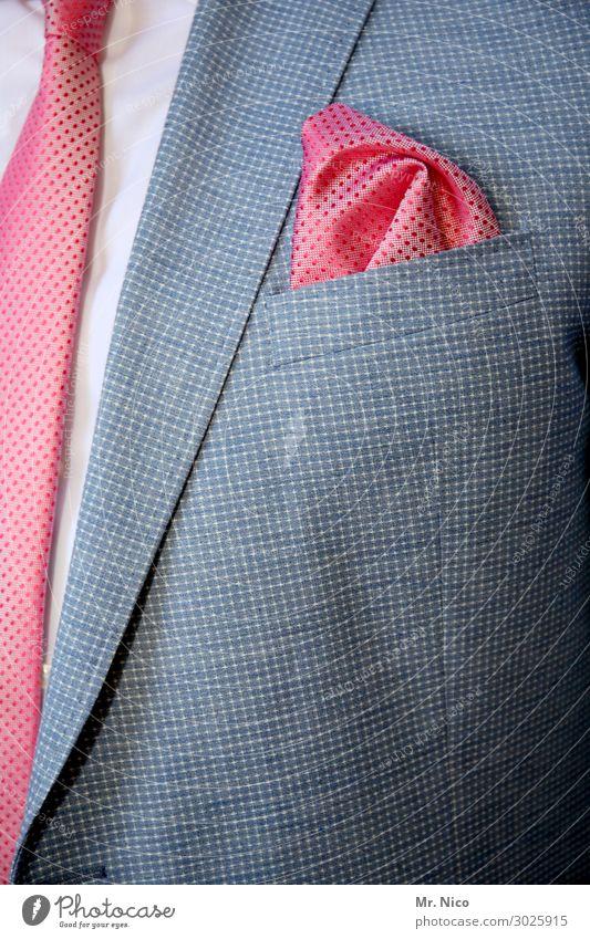 Zur Feier des Tages Lifestyle Feste & Feiern Hochzeit maskulin Mode Hemd Anzug Accessoire Krawatte elegant rosa Erfolg kaufen Reichtum Einstecktuch schick