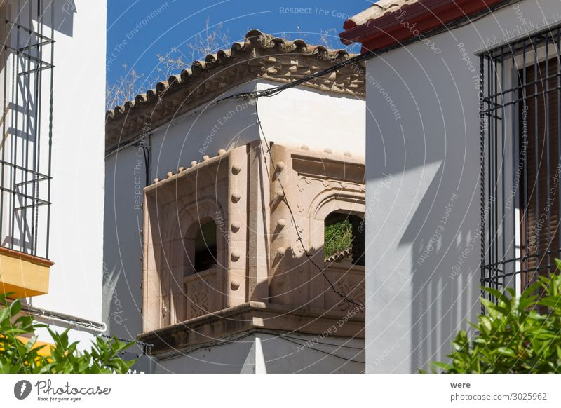 Historic facades in the old town of Cordoba Bauwerk Gebäude Architektur Fenster alt exotisch Andalusia Holiday Spain building historic house nobody