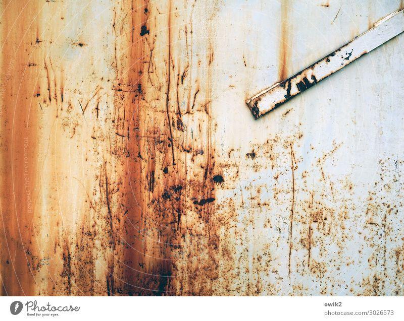 Kratzbürstig Container Metall Rost alt Verfall Vergänglichkeit Zerstörung Kratzer Riss Spuren verfallen Zahn der Zeit Farbfoto Außenaufnahme Strukturen & Formen