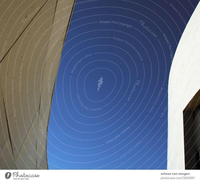 Halbrund Ferien & Urlaub & Reisen blau schön Architektur Gebäude modern Tür einzigartig Dach Wahrzeichen Bauwerk Surrealismus