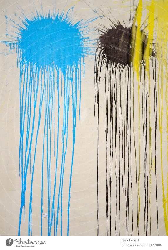 flatsch.neu blau schwarz Graffiti gelb Wand Farbstoff Bewegung Stil Mauer Stimmung Linie einzigartig einfach lang trashig Leichtigkeit