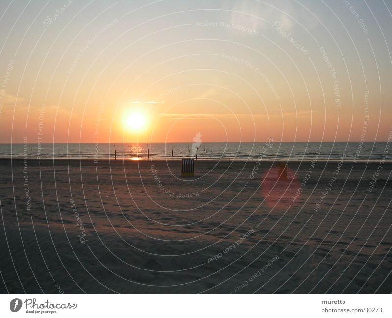 Strandkorb Sonne Meer Sand Europa Insel Nordsee Norderney