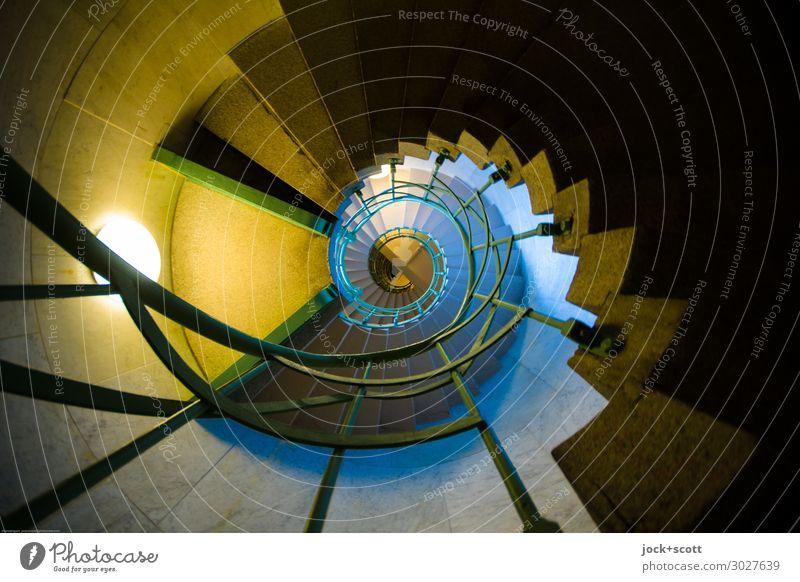 Wendel Architektur Wege & Pfade Stil außergewöhnlich Stimmung Design ästhetisch authentisch Perspektive hoch historisch Turm Niveau viele Treppengeländer