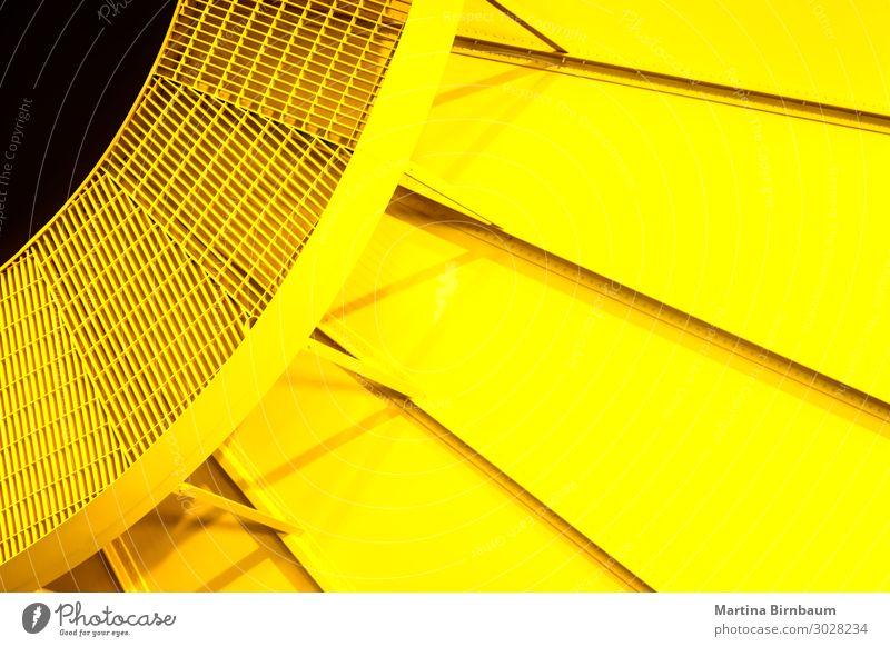 Gelbes radiales hellgelbes Stahlmuster Farbe strahlenförmig kreisrund Konsistenz Tapetenkleber Rakete Schweißen Muster