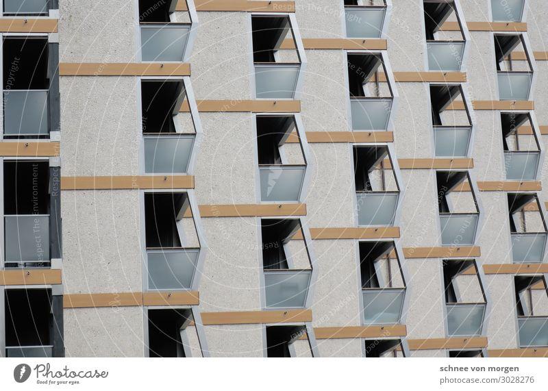 """Balkonien Stadt Haus Hochhaus Bauwerk Gebäude Architektur Fenster Tür Häusliches Leben modern retro trist Ordnung Wandel & Veränderung Zukunft """"Aussicht"""