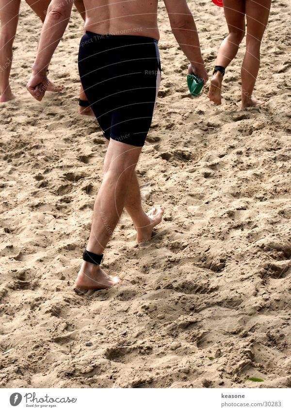 beach Strand Sport Gefühle Gesunde Ernährung Sand Beine Gesundheit Fuß Fitness Fahrradfahren sportlich Jagd Wohlgefühl Sport-Training Barfuß Diät