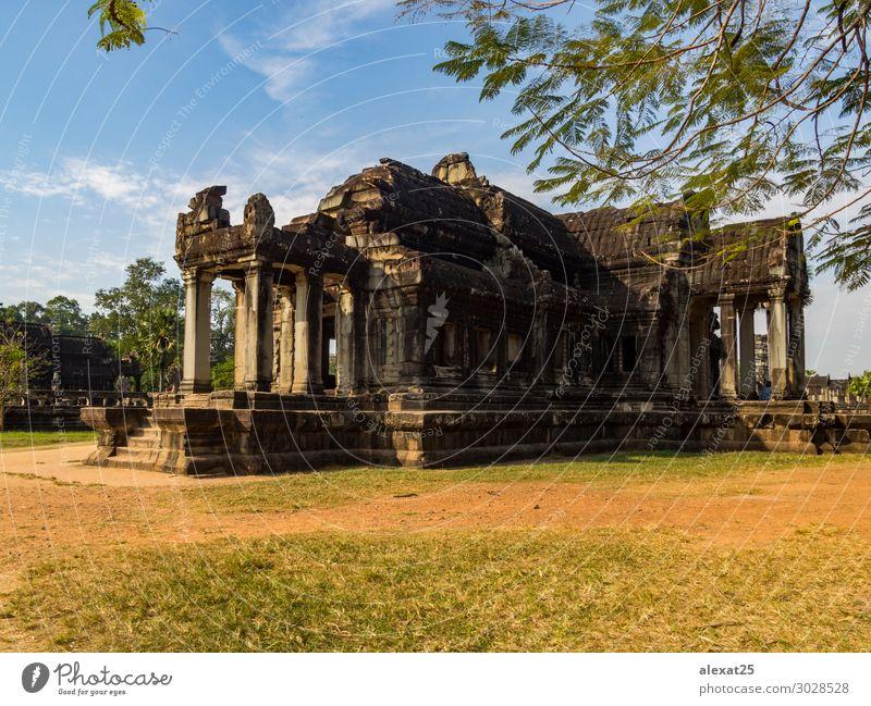 Angkor Wat Tempel Ferien & Urlaub & Reisen Tourismus Erde Himmel See Ruine Gebäude Architektur Denkmal Stein Religion & Glaube antik Asien Kambodscha Erbe