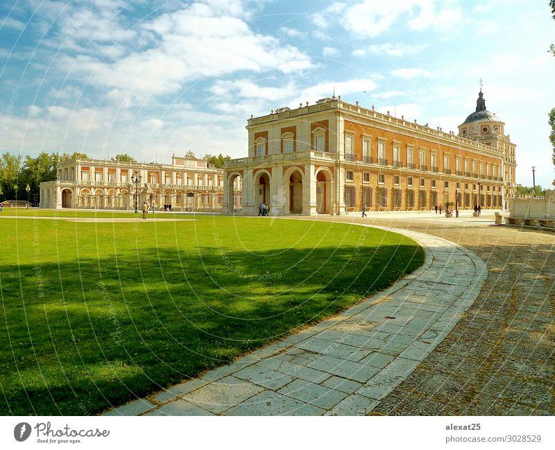 Königlicher Palast von Aranjuez Ferien & Urlaub & Reisen Tourismus Garten Kunst Erde Himmel Park Burg oder Schloss Gebäude Architektur Denkmal alt authentisch