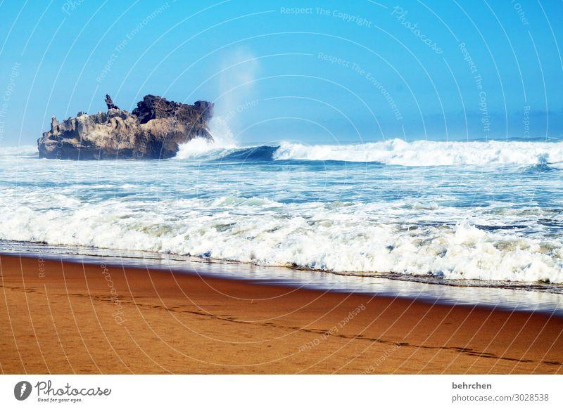 weil vom meer immer mehr sein muss! besonders beeindruckend träumen Küste exotisch Wellen Strand Kontrast Himmel außergewöhnlich fantastisch Fernweh Freiheit