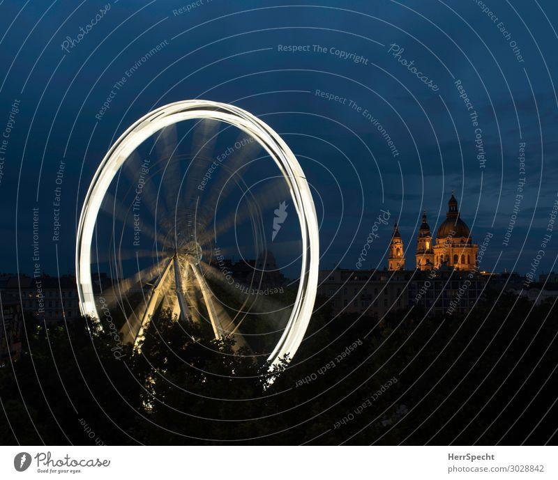 Merry-Go-Round Lifestyle Freude Ferien & Urlaub & Reisen Tourismus Ausflug Sightseeing Städtereise Nachtleben Entertainment Feste & Feiern Jahrmarkt Budapest