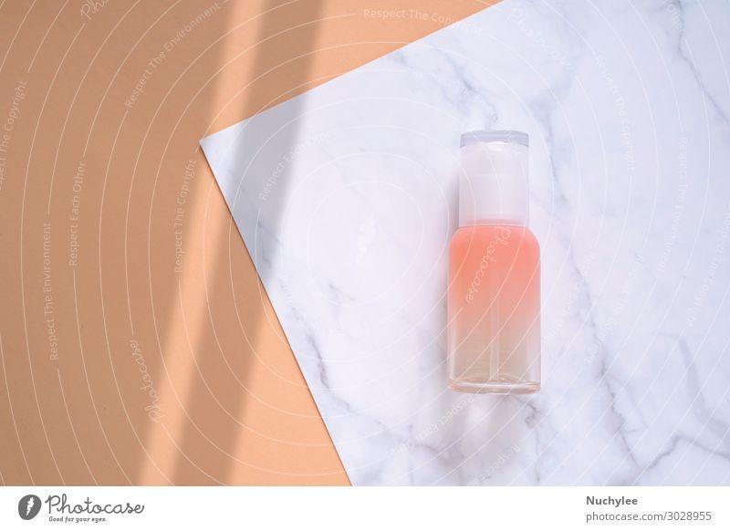 Flache Auflage des Hautpflegemittels Flasche Körper Gesicht Creme Behandlung Medikament Spa Natur Container Mode Verpackung Paket frisch natürlich rosa