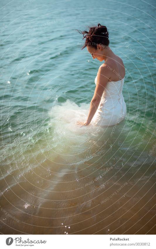 #A# on a warm day Kunst ästhetisch Kleid Braut Brautkleid Brautschleier Frau Zeremonie Farbfoto Gedeckte Farben Außenaufnahme Nahaufnahme Detailaufnahme