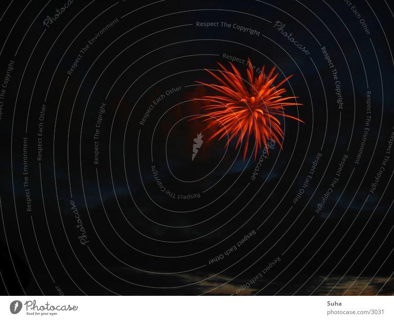 Dezentes Feuerwerk II rot Beleuchtung Brand Stern (Symbol) Silvester u. Neujahr Freizeit & Hobby Japan Flamme Düsseldorf Explosion Funken Rhein Feste & Feiern