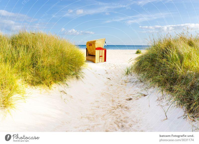 Aufgang Weg zum Strand an der Ostsee Freizeit & Hobby Ferien & Urlaub & Reisen Tourismus Sommer Sonne Meer Wellen Landschaft Sand Wasser Wolken Frühling Herbst