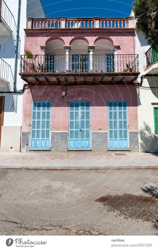 Casa rosa Spanien Mallorca Balearen Porto Colom Haus Hafen mediterran alt Romantik