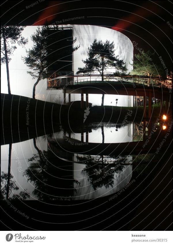 mirror Wasser Baum Haus Wand See Architektur Treppe Wolfsburg Autostadt Museum
