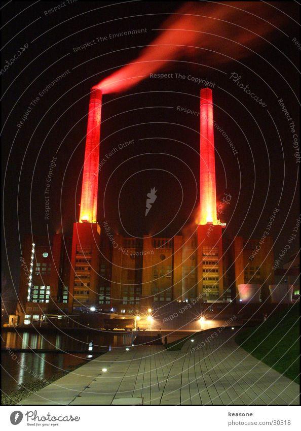 das werk Wasser rot Lampe Fabrik Rauch Unternehmen Kunstwerk Wolfsburg
