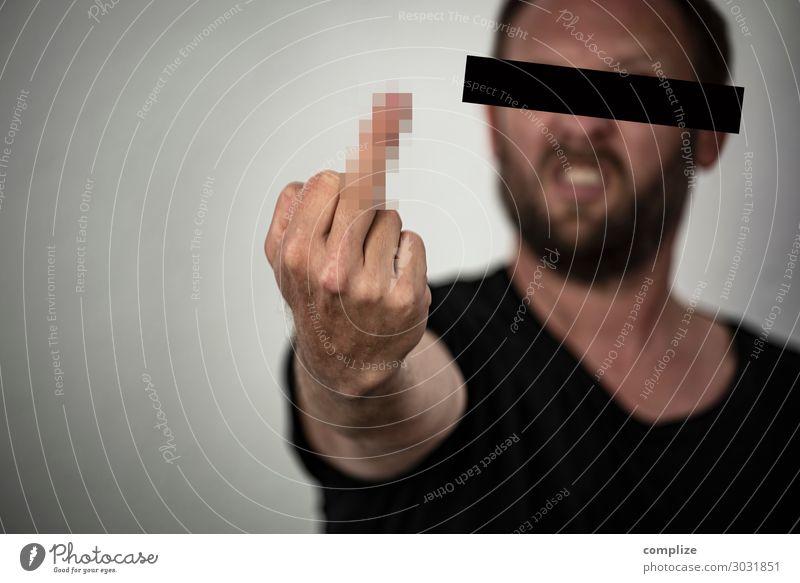 F*** You Gesundheit Rauschmittel Alkohol Freizeit & Hobby Häusliches Leben Arbeitsplatz sprechen Mann Erwachsene Subkultur Verkehr Zeichen Respekt Eifersucht